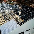 Завершен монтаж металлических конструкции на объекте строительства