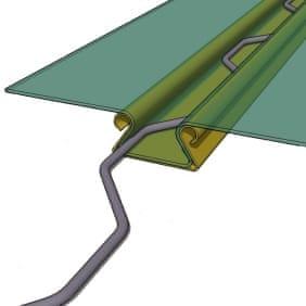 Профілі для кріплення плівки в теплиці ЗИГ-ЗАГ